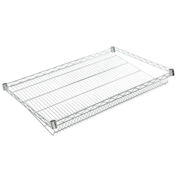 "Regency 24"" x 36"" NSF Chrome Slanted Wire Shelf Main Image 1"