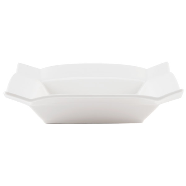 "CAC TMS-3 Times Square 8"" Bright White Square China Soup Plate - 24/Case"