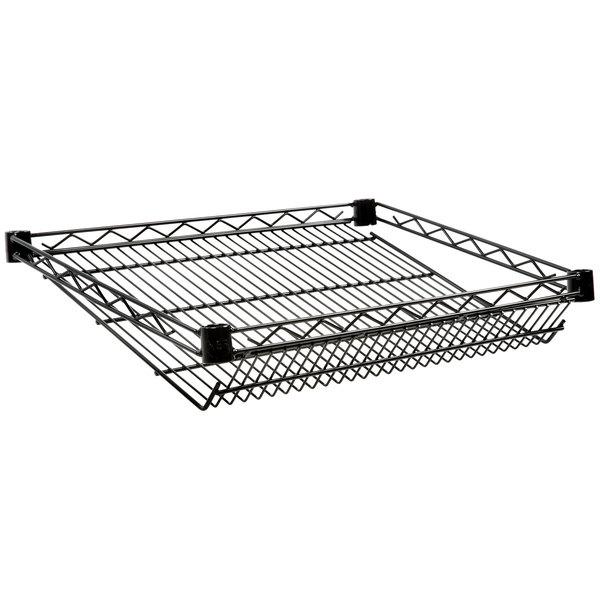"""Regency 18"""" x 24"""" NSF Black Epoxy Slanted Wire Shelf Main Image 1"""