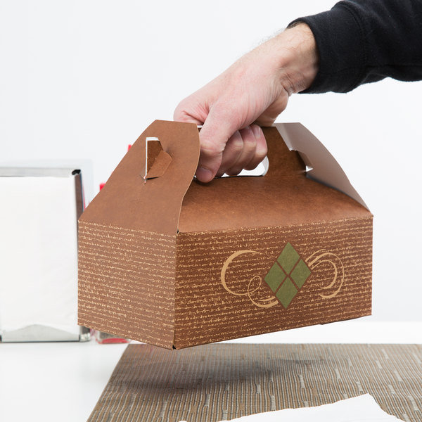 Person carrying a takeout box