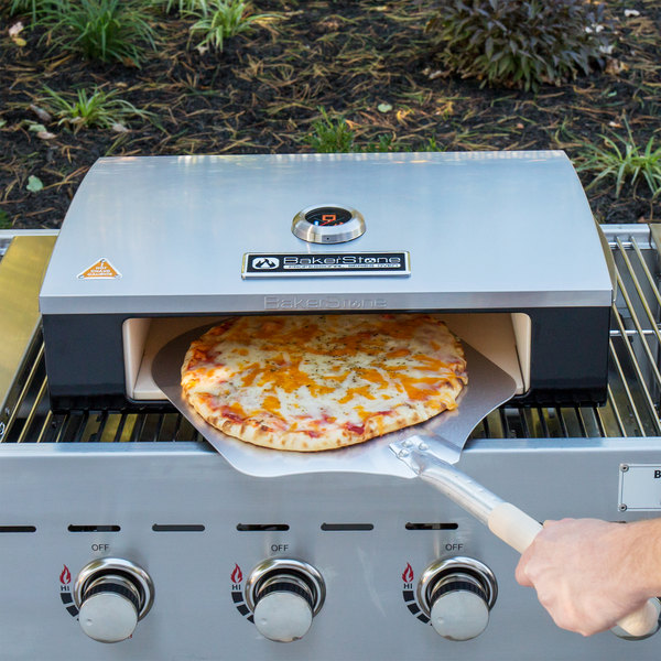 "BakerStone P-AHXXX-O-000 Stainless Steel Professional Grill Top Pizza Oven - 23 3/8"" x 16 3/4"" x 6 3/8"""