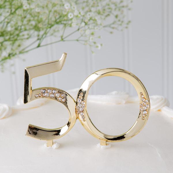 Wilton 1008-762 50th Anniversary Gold Cake Topper