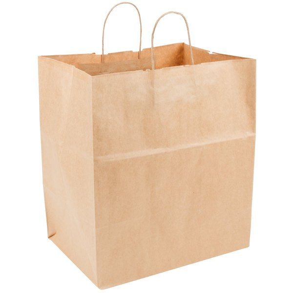 Duro Super Royal Natural Kraft Paper Shopping Bag with Handles 14 ...