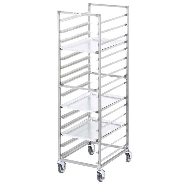 Channel 402S 15 Pan End Load Stainless Steel Bun / Sheet Pan Rack - Assembled Main Image 1