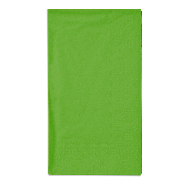 "Fresh Lime Green Paper Dinner Napkins, 2-Ply, 15"" x 17"" - Hoffmaster 180561 - 125/Pack"