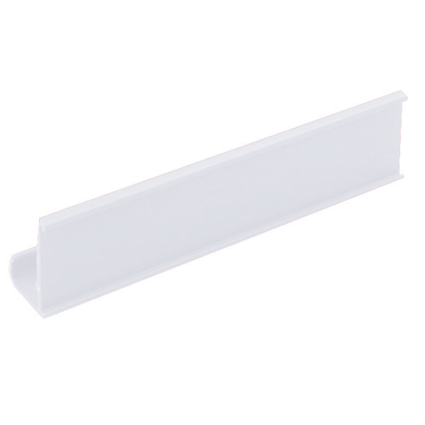 """Metro CSM6-W 6"""" x 1 1/4"""" White Shelf Marker Main Image 1"""