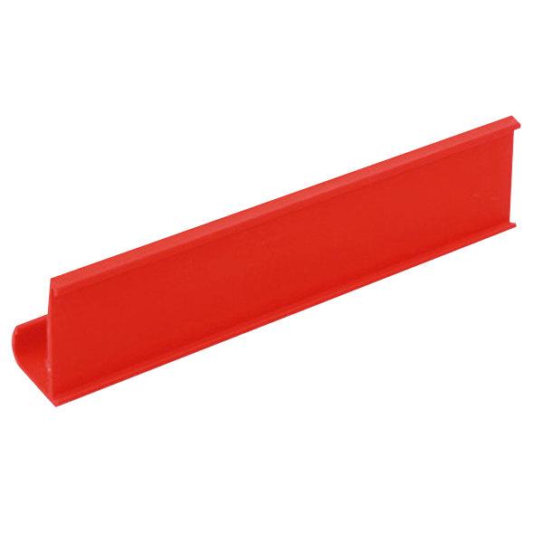 "Metro CSM6-R 6"" x 1 1/4"" Red Shelf Marker Main Image 1"