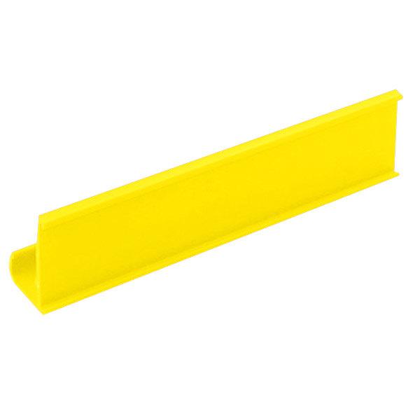 "Metro CSM6-Y 6"" x 1 1/4"" Yellow Shelf Marker Main Image 1"