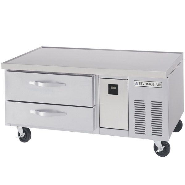"""Beverage-Air WTRCS52-1-56-FLT 56"""" Two Drawer Refrigerated Chef Base with Flat Top Main Image 1"""