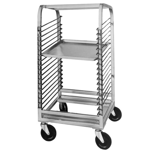 Channel 564NS 18 Pan End Load Stainless Steel Bun / Sheet Pan Rack with Wire Slides - Assembled Main Image 1