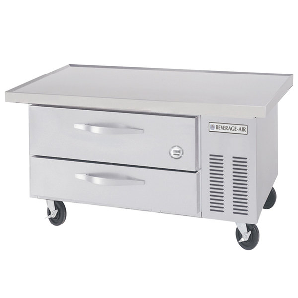 """Beverage-Air WTRCS36-1-48-FLT-003 48"""" Two Drawer Refrigerated Chef Base with Flat Top Main Image 1"""