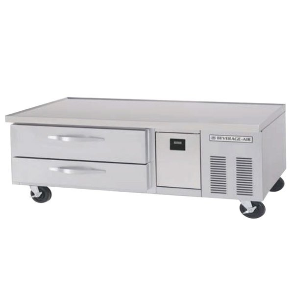 """Beverage-Air WTRCS60D-1-62-FLT 62"""" Two Drawer Refrigerated Chef Base with Flat Top Main Image 1"""