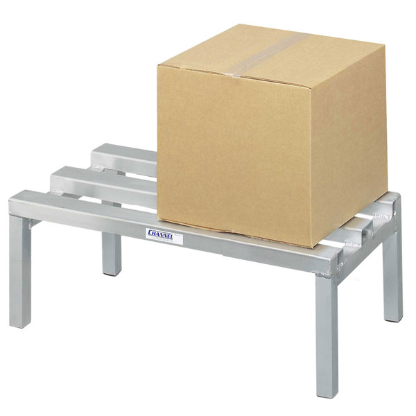 """Channel CA2024 20"""" x 24"""" Aluminum Dunnage Rack - 2500 lb. Main Image 1"""