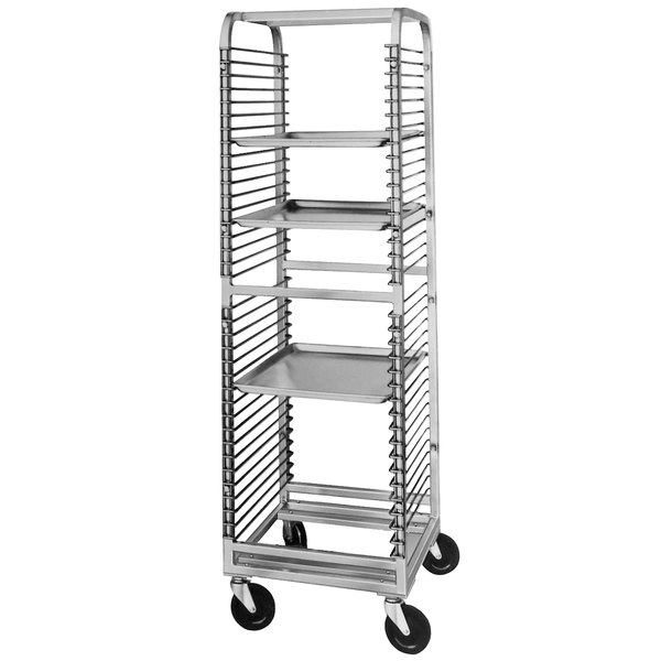 Channel 560NS 36 Pan End Load Stainless Steel Bun / Sheet Pan Rack with Wire Slides - Assembled Main Image 1