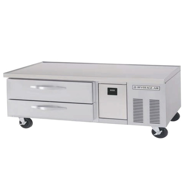 """Beverage-Air WTRCS60D-1-FLT 60"""" Two Drawer Refrigerated Chef Base with Flat Top"""