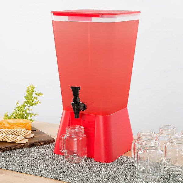 Choice 5 Gallon Red Beverage / Juice Dispenser