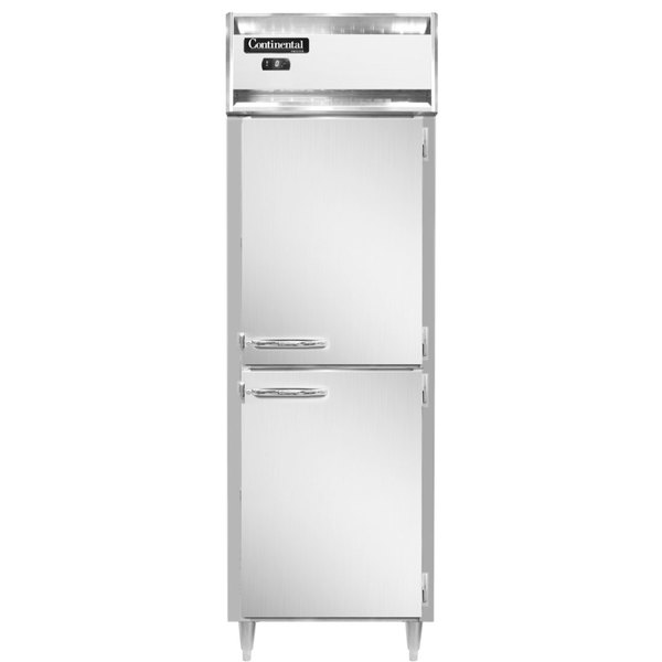 "Continental DL1FS-SA-HD 26"" Solid Half Door Shallow Depth Reach-In Freezer Main Image 1"
