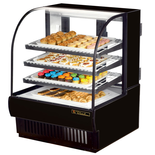 True TCGD-36 36 inch Black Dry Bakery Display Case