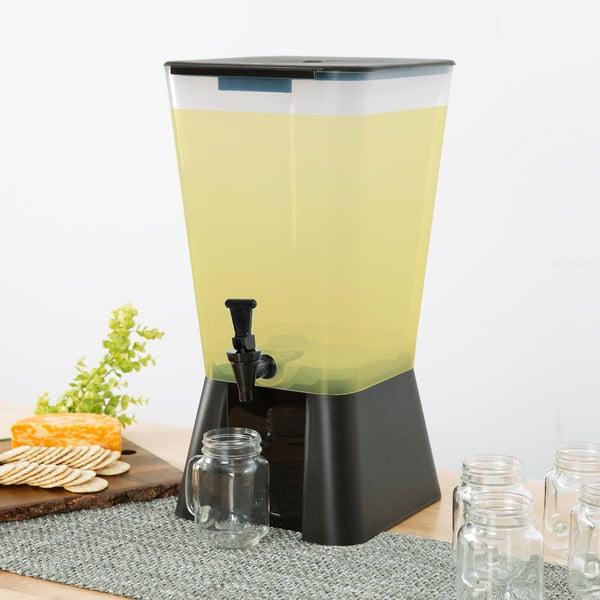 Choice 5 Gallon Black Beverage / Juice Dispenser