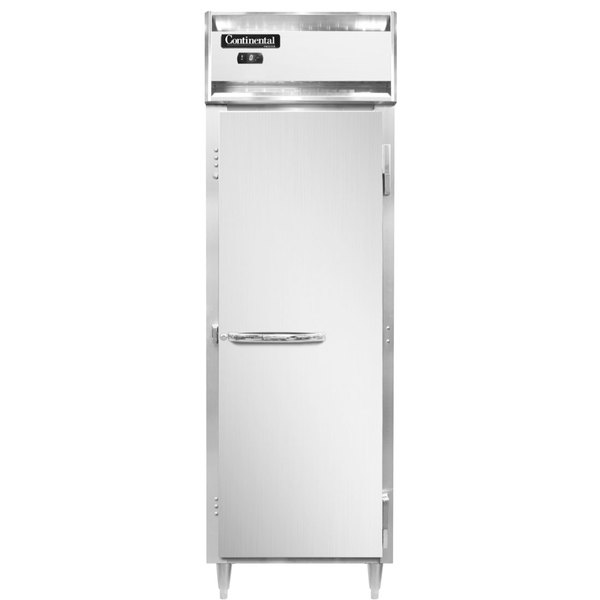 """Continental DL1FS-SA 26"""" Solid Door Shallow Depth Reach-In Freezer Main Image 1"""