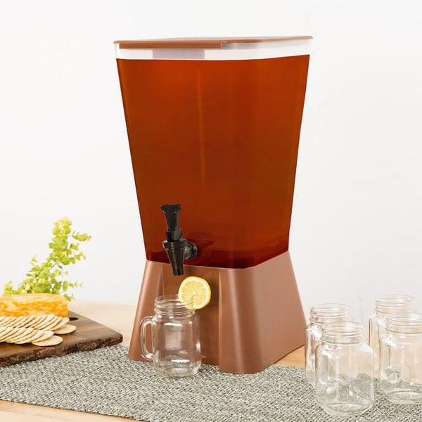 Choice 5 Gallon Brown Beverage / Juice Dispenser