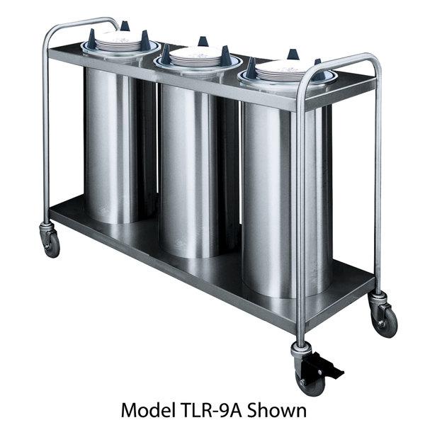 "APW Wyott HTL3-6.5 Trendline Mobile Heated Three Tube Dish Dispenser for 5 7/8"" to 6 1/2"" Dishes - 120V"
