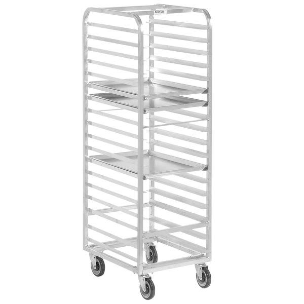 Channel WA03 18 Pan End Load Aluminum Walk-In Bun / Sheet Pan Rack - Assembled