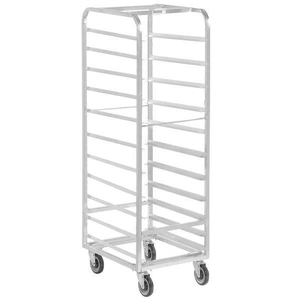 Channel WA05 11 Pan End Load Aluminum Walk-In Bun / Sheet Pan Rack - Assembled