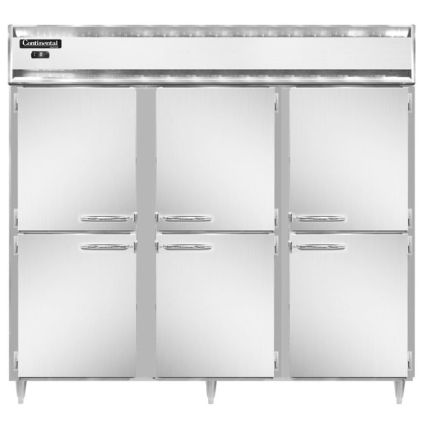 """Continental DL3FE-SS-HD 86"""" Extra-Wide Solid Half Door Reach-In Freezer Main Image 1"""