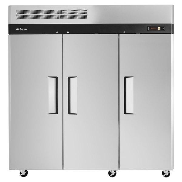 "Turbo Air M3R72-3 M3 Series 78"" Solid Door Reach In Refrigerator"