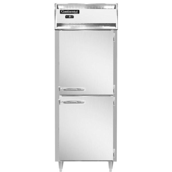 "Continental DL1FX-HD 36"" Extra-Wide Solid Half Door Reach-In Freezer Main Image 1"