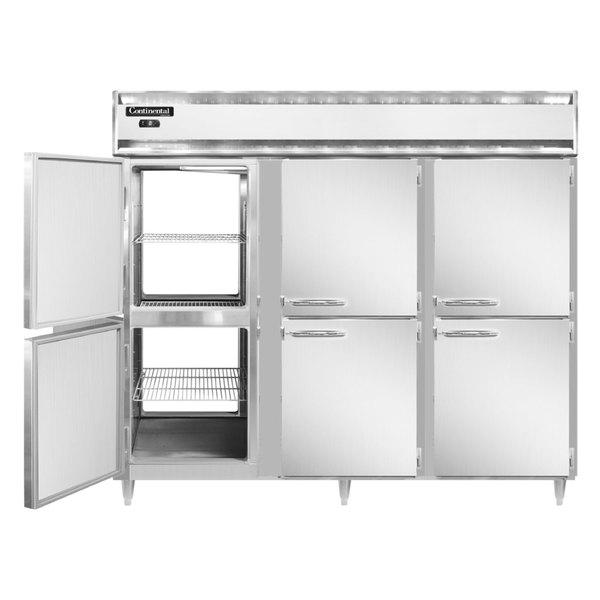 "Continental DL3FE-SA-PT-HD 86"" Extra-Wide Solid Half Door Pass-Through Freezer"