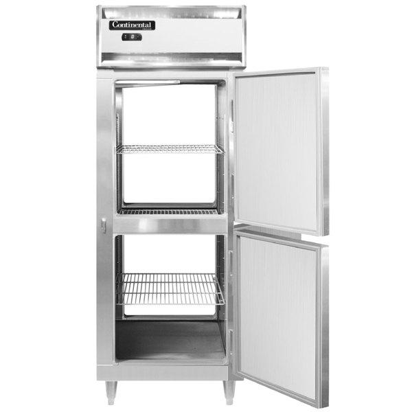 "Continental DL1FE-PT-HD 29"" Extra-Wide Solid Half Door Pass-Through Freezer Main Image 1"