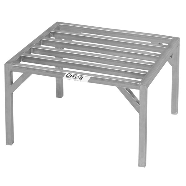 """Channel ES2024 20"""" x 24"""" Heavy-Duty Stainless Steel Dunnage Rack - 4000 lb."""