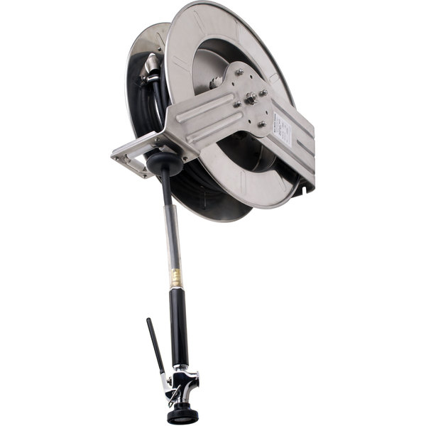 Fisher 29610 Industrial Reel Wall Mounted Exposed Hose Reel with 35' Hose and 2.15 GPM Ultra Spray Valve Main Image 1