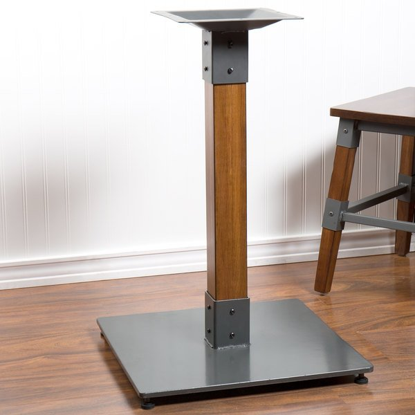 Walnut Wooden Dining Height Table Base Image Preview