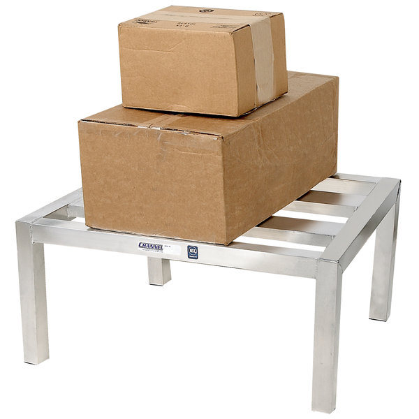 """Channel HD2424 24"""" x 24"""" Aluminum E-Channel Dunnage Rack - 2500 lb. Main Image 1"""