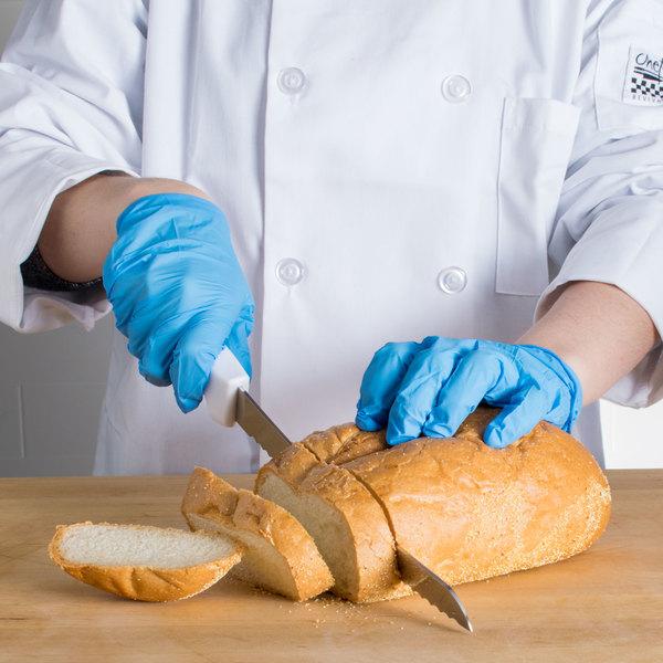 "Choice 10"" White Curved Serrated Edge Bread Knife"