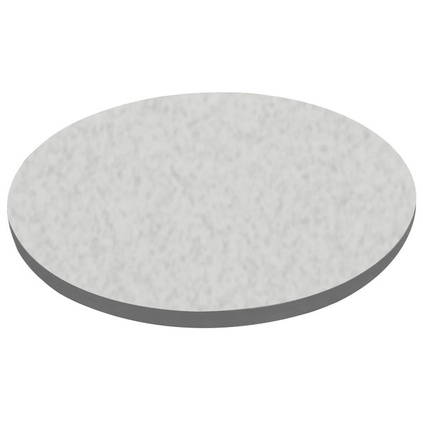 """American Tables & Seating ATS30 30"""" Round Laminate Table Top with Gray Edge"""