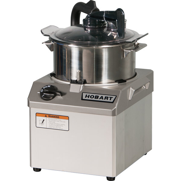 Hobart HCM61-1 6 Qt. Stainless Steel Batch Bowl Food Processor - 1 1/2 hp Main Image 1