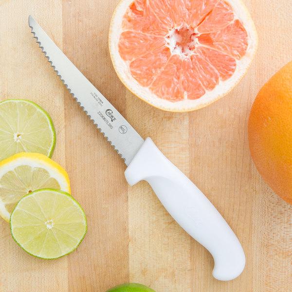 "Choice 5"" White Serrated Edge Utility Knife"