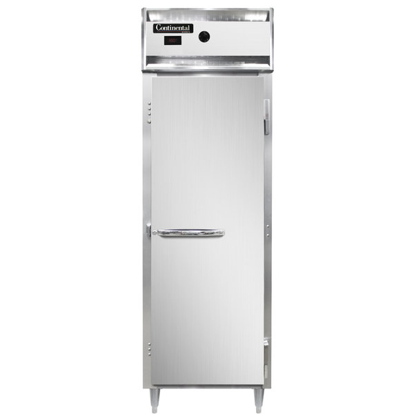 """Continental DL1W 26"""" Solid Door Reach-In Heated Holding Cabinet - 1500W Main Image 1"""