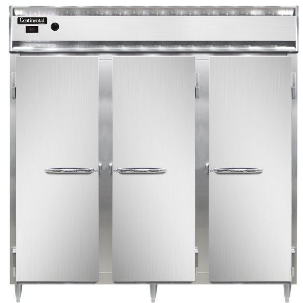"""Continental DL3W 78"""" Solid Door Reach-In Heated Holding Cabinet - 3000W Main Image 1"""