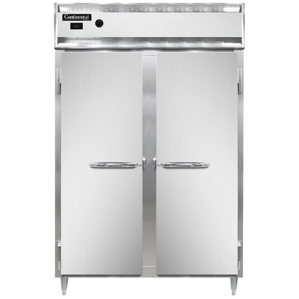 """Continental DL2W-SS 52"""" Solid Door Reach-In Heated Holding Cabinet - 2250W Main Image 1"""
