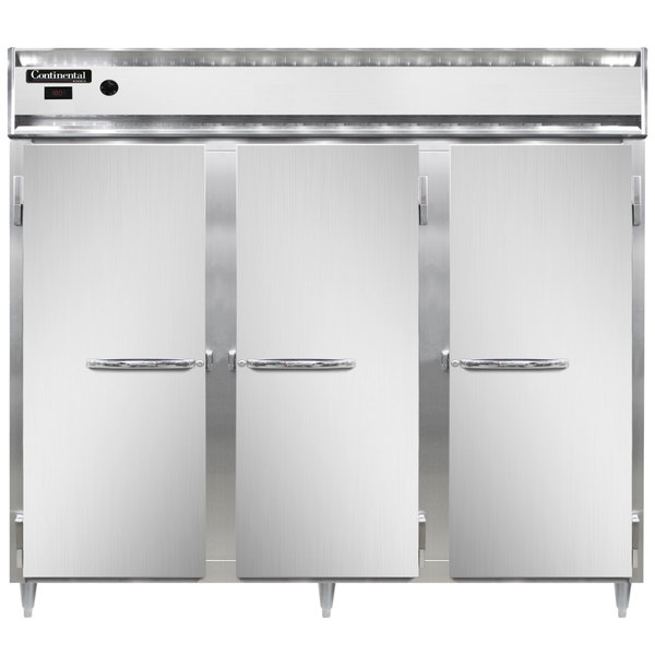 "Continental DL3WE 86"" Extra-Wide Solid Door Reach-In Heated Holding Cabinet - 3000W Main Image 1"
