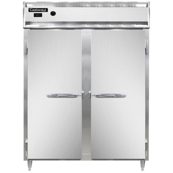 """Continental DL2WE-SS 57"""" Extra-Wide Solid Door Reach-In Heated Holding Cabinet - 2250W Main Image 1"""