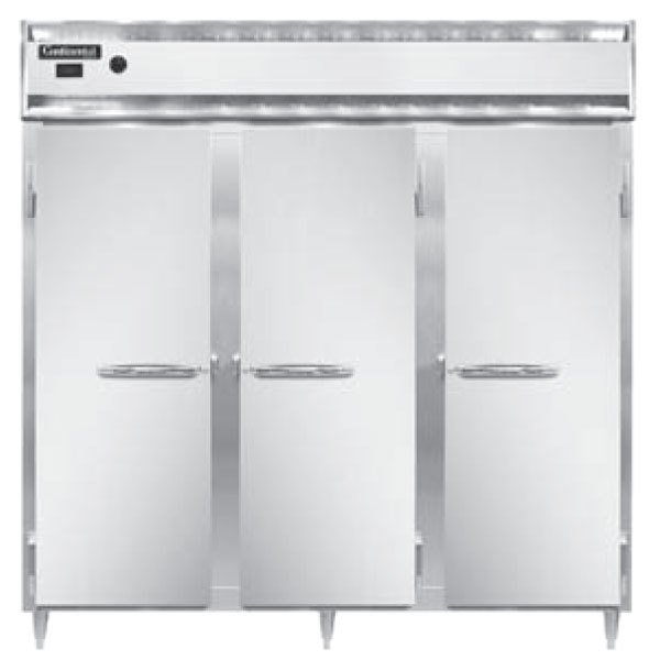 """Continental DL3W-SA 78"""" Solid Door Reach-In Heated Holding Cabinet - 3000W Main Image 1"""