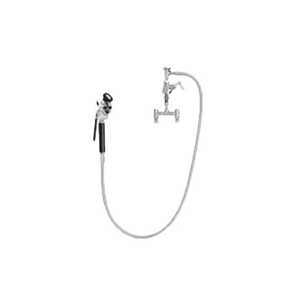 """Fisher 56642 Deck Mounted Stainless Steel Utility Spray Faucet with Temperature Control Valve, 60"""" Hose, Atmospheric Vacuum Breaker, and Swivel Elbow Main Image 1"""