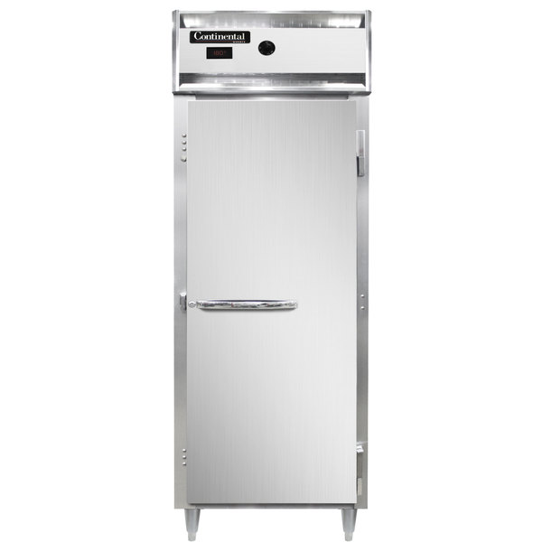 """Continental DL1WE-SA 29"""" Extra-Wide Solid Door Reach-In Heated Holding Cabinet - 1500W Main Image 1"""