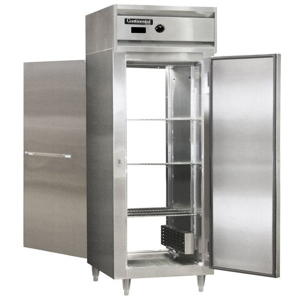 """Continental DL1WE-PT 29"""" Extra-Wide Solid Door Pass-Through Heated Holding Cabinet - 1500W Main Image 1"""